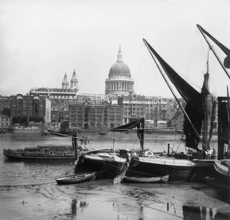 St Paul's Cathedral viewed from Southwark, across the River Thames, in 1859. Photograph: William England/Getty Images