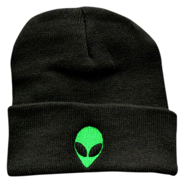 If the aliens are among us, use this to signal to them that you're friendly. Maybe you'll even get abducted, which would also be cool. The design on this beanie is fully embroidered, making it high-qu