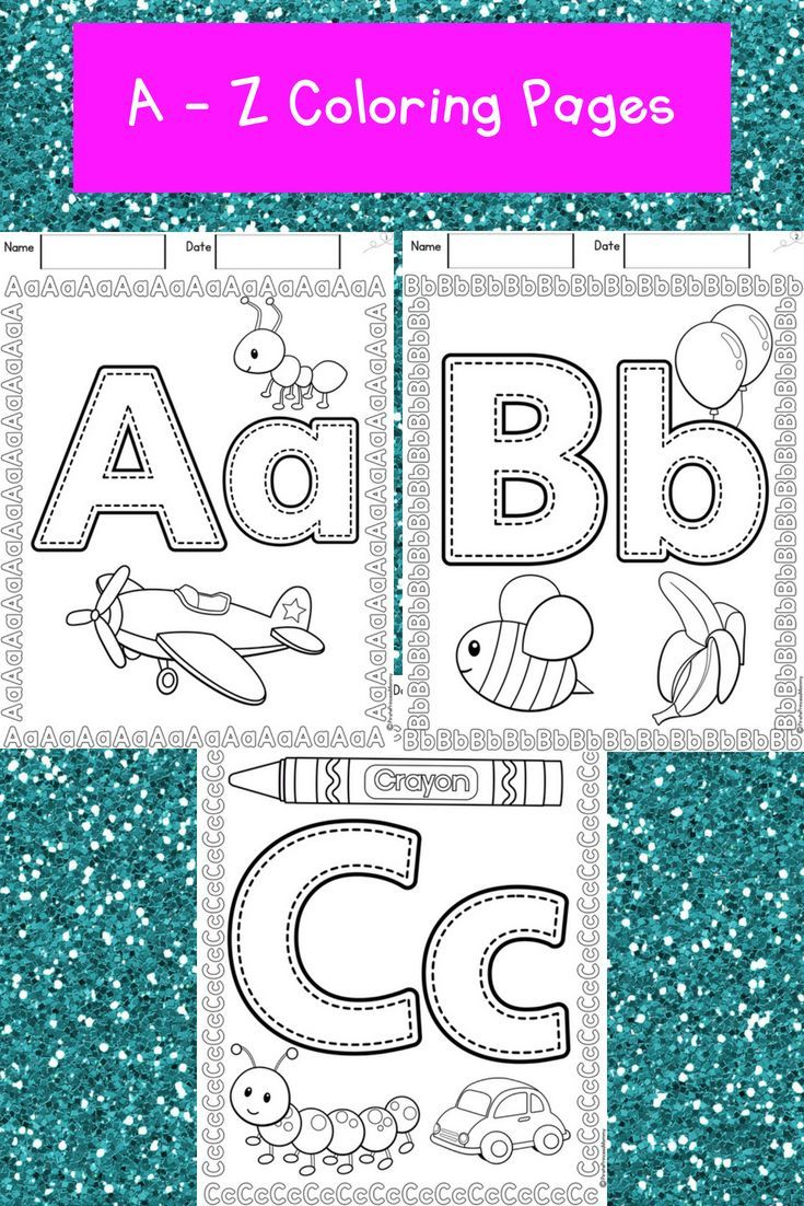 Abc Color Me Abc Coloring Pages Kindergarten Learning Activities Abc Coloring