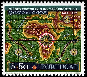 3.50e Vasco da Gama's Route to India single, 1969