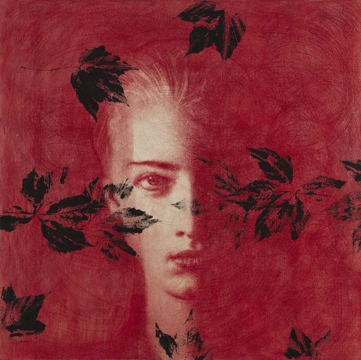 Omar Galliani Dalle stanze di Ophelia, 2005 pastello e tempera su tavola, cm 100x100 pastel and tempera on wood, cm 100x100 © Luca Trascinelli