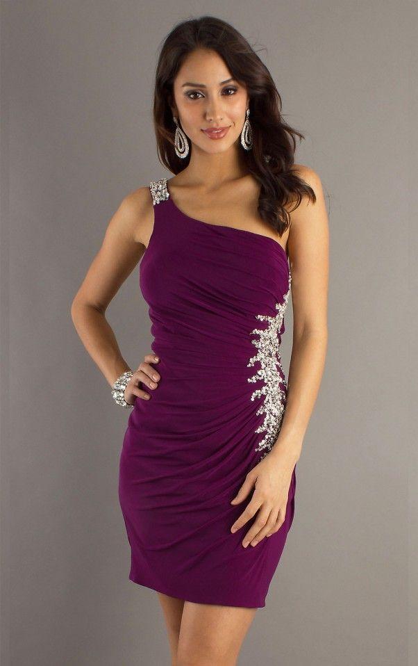 23 best One Shoulder Cocktail Dress images on Pinterest | Party wear ...