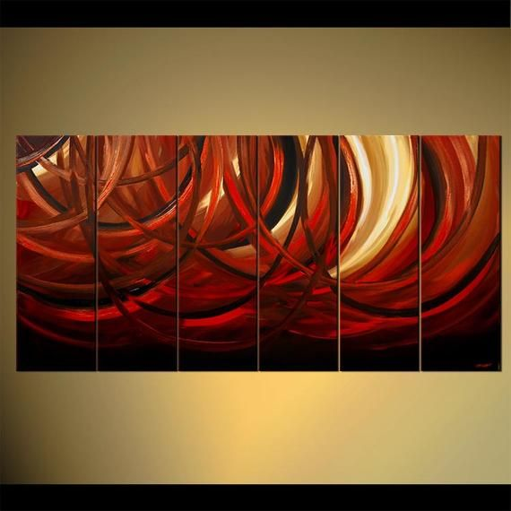 huge red black abstract