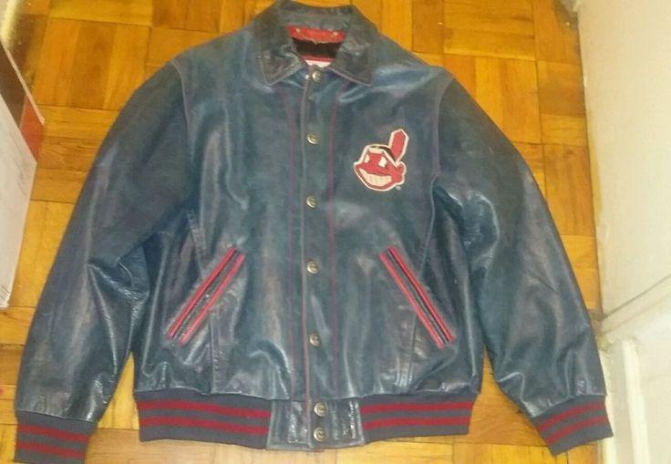 CLEVLAND INDIANS 1980'S leather jacket #Mirage #Baseball