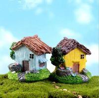 4 peças casas de moda de nova bonito resina artesanato casa de fadas jardim miniatures gnome Micro paisagem decor bonsai para decoração de casa