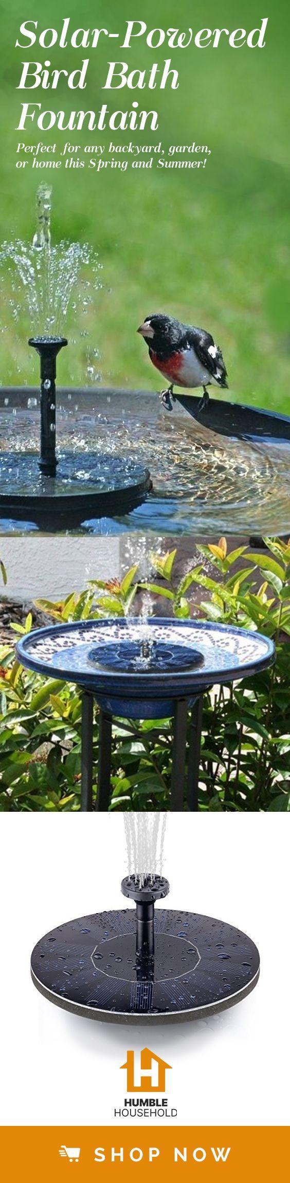 SmartGarden – Solar Powered Bird Bath Fountain