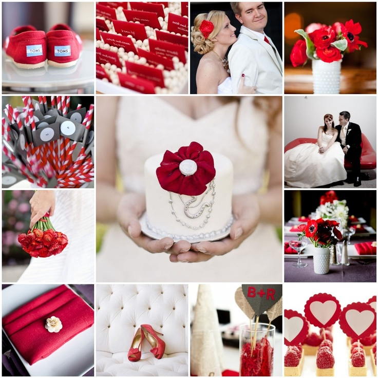 red. looveee red/white/black weddings