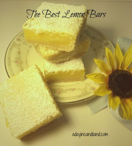 The Best Lemon Bars | http://adayincandiland.com/2013/04/the-best-lemon-bars.html