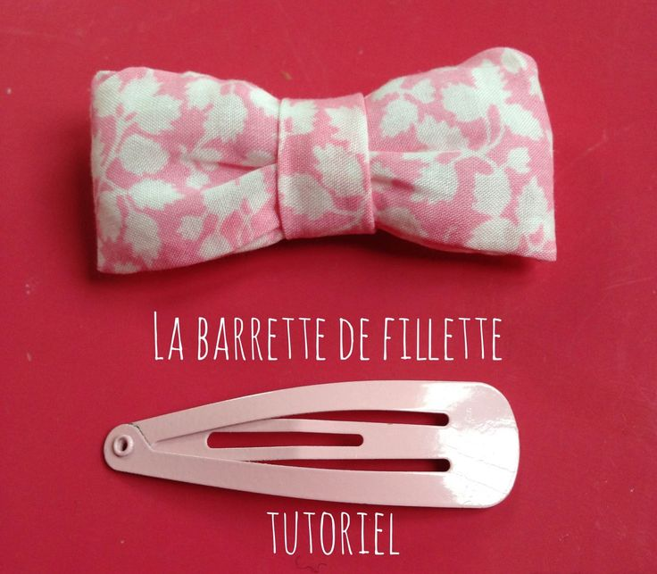 Tutoriel barrette de fillette en liberty | Les brico de Fio