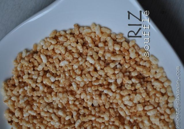 Riz soufflé maison et Rice krispies au chocolat (sans guimauve) - Recettes by Hanane (pâtisserie - cuisine Marocaine...)