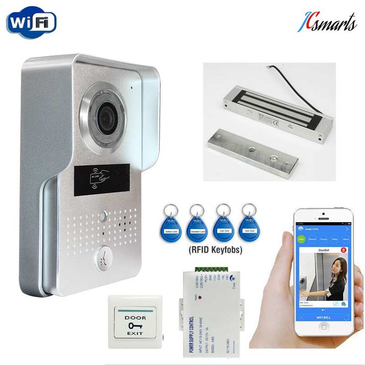 Wireless videoportero interfone wifi doorbell camera two-way handsfree intercom system with Magnetic lock 12V 3A power supply