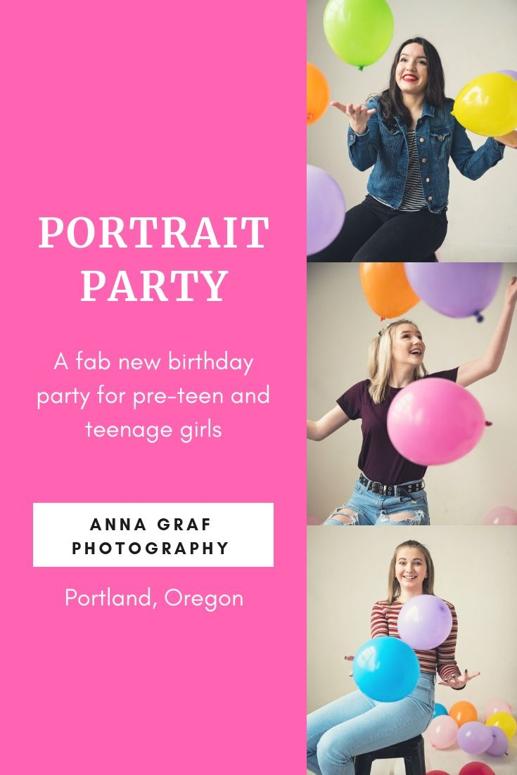 Looking For A Unique Birthday Party Idea Your Pre Teen Or Teenage Daughter Book Portrait With Anna Graf Photography