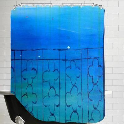 Brayden Studio Markus Bleichner Romantic Balcony in the Mediterranean Shower Curtain