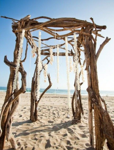 66 best Beach Wedding Arches images on Pinterest   Beach wedding ...