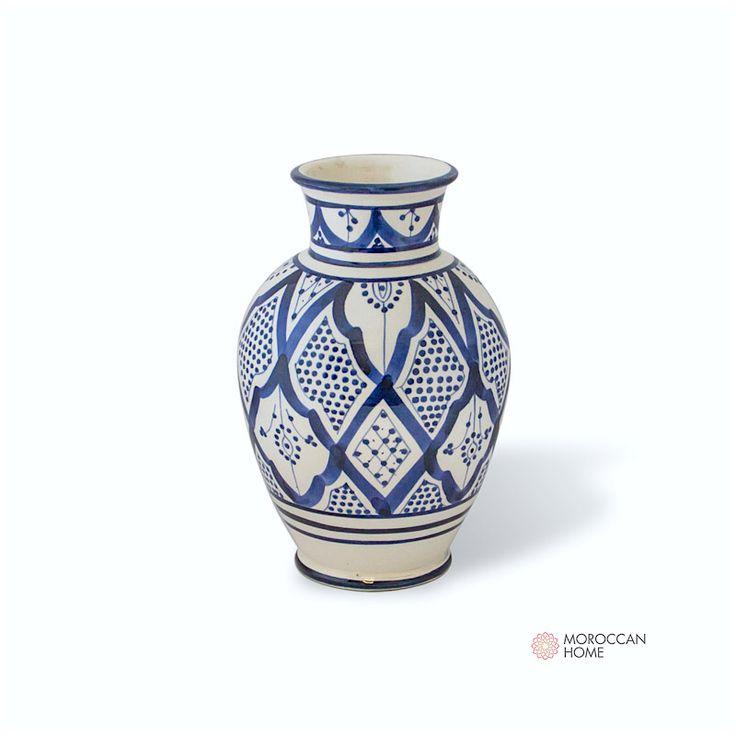 Handgjord urna i Marockanskt traditionellt mönster.