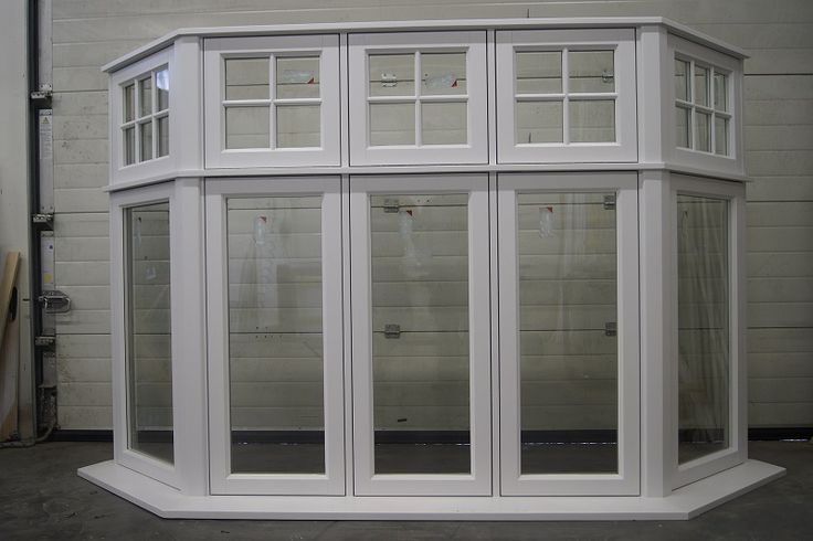 Our large Casement Bay Window finished in white gloss.