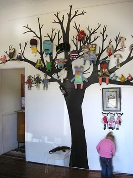 Zo'n boom wil ik op de muur ... ipv knuffels foto's en andere herinneringen