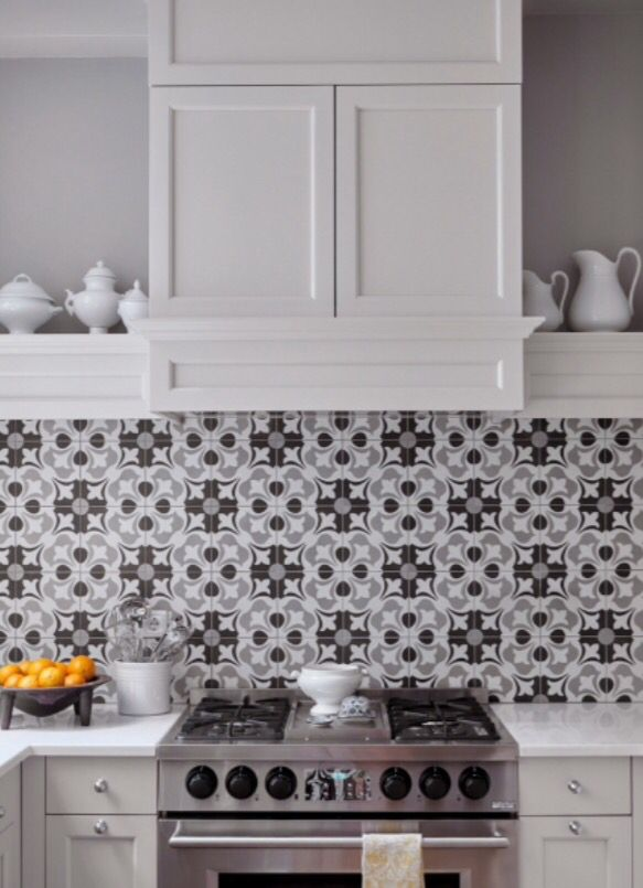 """These lovely kitchen tiles are from our feature """"Sweet Luxuries"""""""