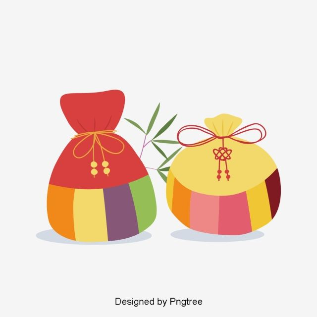 Korean Traditional New Years Lucky Bag Vector And Png Korean New Year Holiday Art Chinese New Year Design