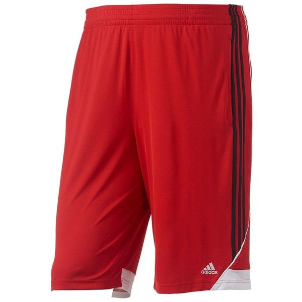 Big & Tall Adidas Climalite 3G Speed Performance Shorts ($22) ❤ liked on Polyvore featuring men's fashion, men's clothing, men's activewear, men's activewear shorts, med red, mens activewear shorts and mens activewear