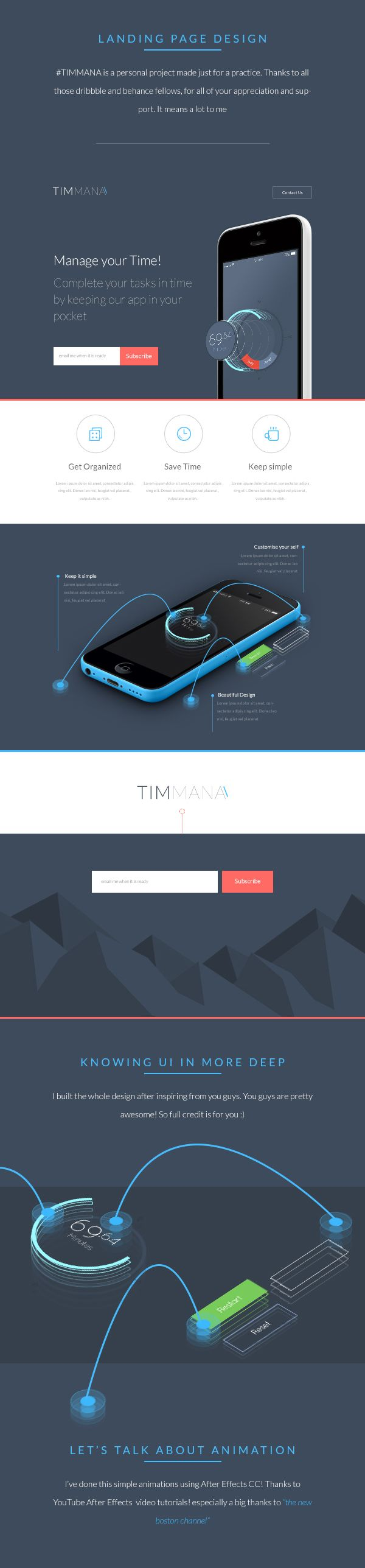 TIMMANA - App Landing Page
