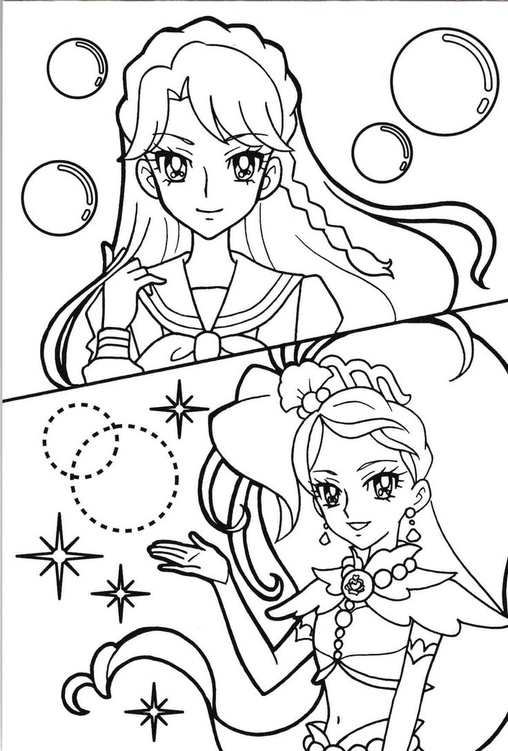 oasidelleanime precure coloring pages - photo #21