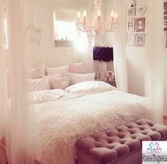 feminine+bedroom+design+ideas+30+Feminine+room+ideas+for+teen+girls+room+ideas+feminine-bedroom-design-ideas | Casa  | Room Ideas For Teens, Room Id…