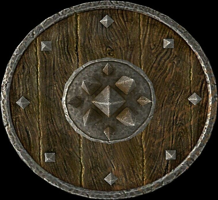 Targe of the Blooded  BASE ARMOR:20 Weight:8 BASE VALUE:300 Additional Effects: When bashing, does 3 points of bleeding damage for 5 seconds Class: Heavy Armor, Shield Upgrade Material: Steel Ingot PERK: Arcane Blacksmith