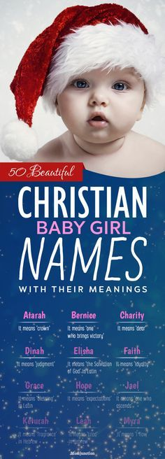 50 Beautiful #Christian #Baby #Girl #Names With Their Meanings : These names come from three essential sources  The Bible The Old Testament and The New Testament. There are other biblical references as well from where these names are taken.