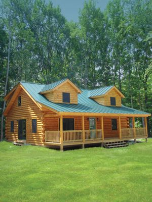 Coventry Log Homes | Our Log Home Designs | Tradesman Series | The Clearwater