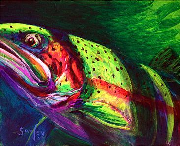 Fly Fishing art / Mike Savlen - this one is for my fly fishing brother