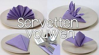 Tischdeko - Bestecktasche aus Servietten falten ganz einfach - YouTube