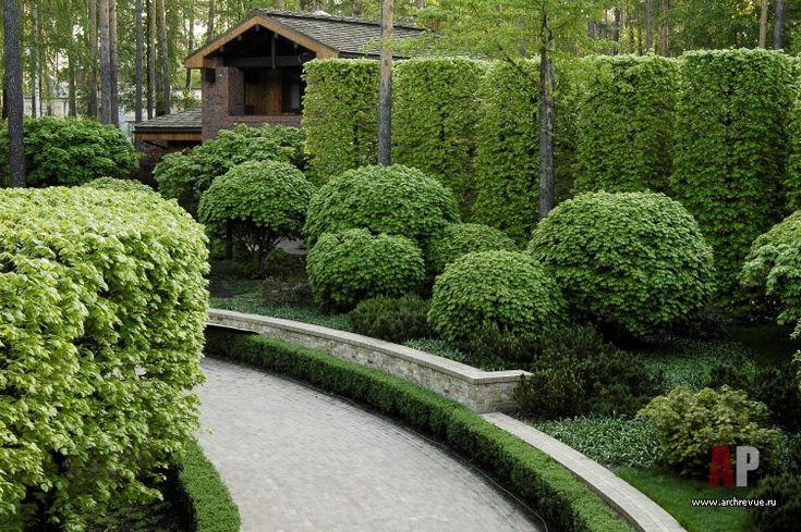 Ландшафтный дизайн сада с лабиринтом
