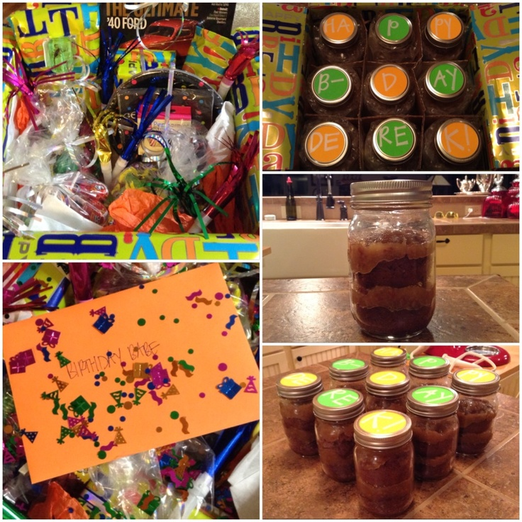 Birthday Cake In A Jar! Birthday Theme Care Package Idea