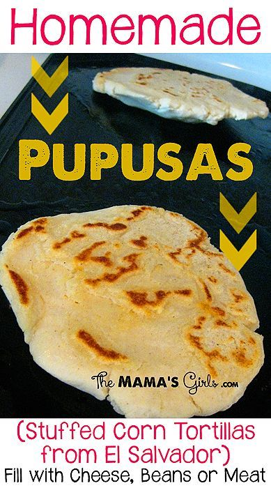 Homemade Pupusas. These are yummy. Lots of variations.