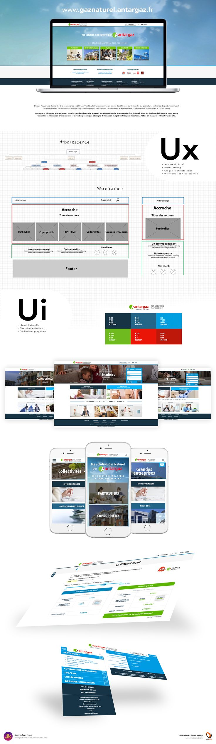 Ui Ux Design du site Gaz Naturel Antargaz