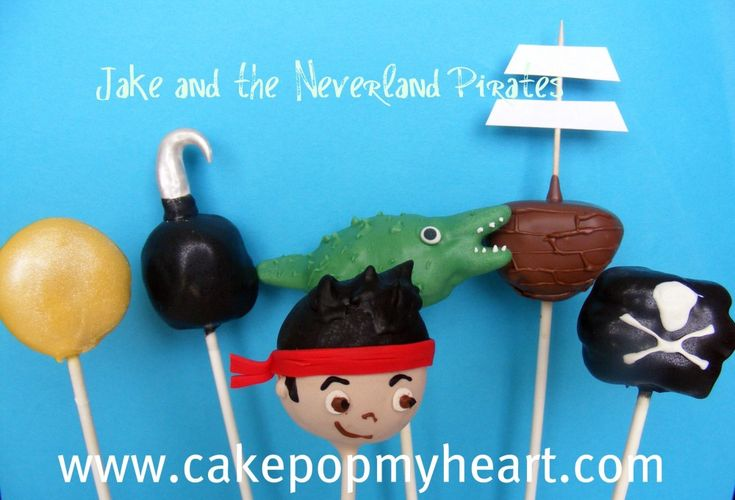 Disney Jake and the Neverland Pirates Cake Pops  @Jamie Wise Harrison
