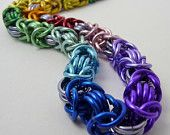 Rainbow Aluminum Byzantine Necklace by Split Infinity Jewelry, Raleigh, NC