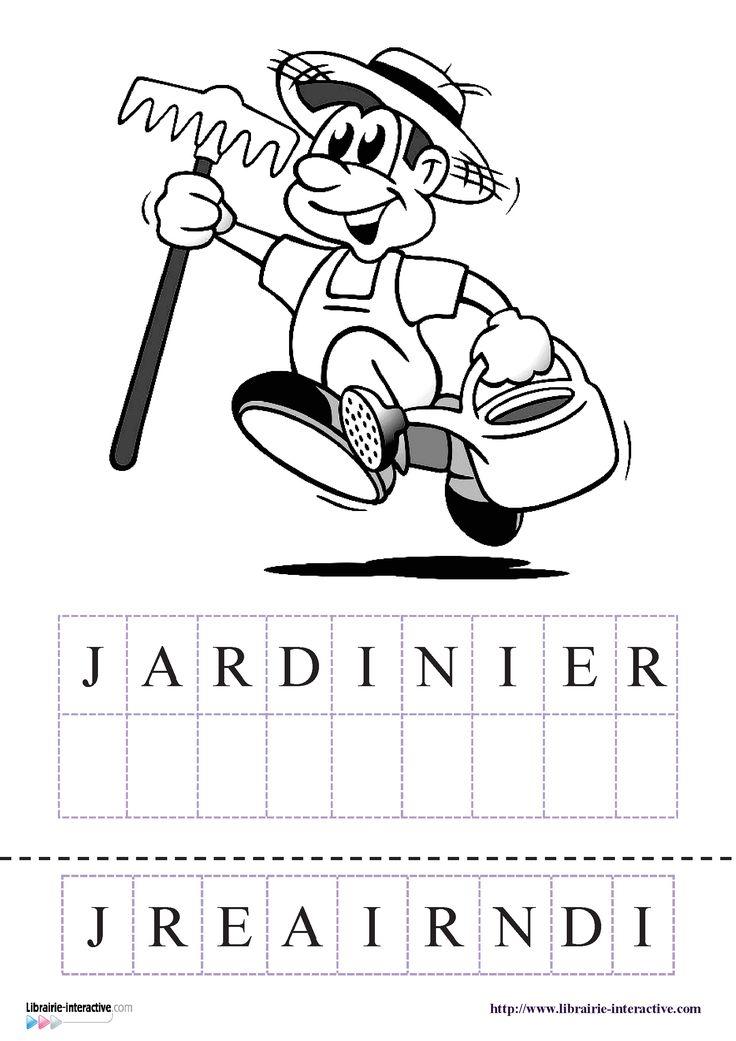Une petite activit pour lire et crire le nom des m tiers for Le jardin voyageur maternelle