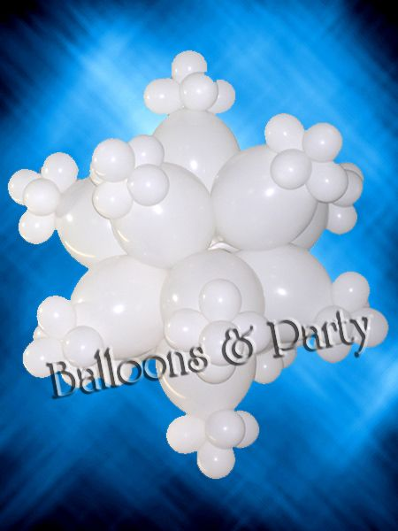 snowflake balloons decorations - Google Search | winter ...
