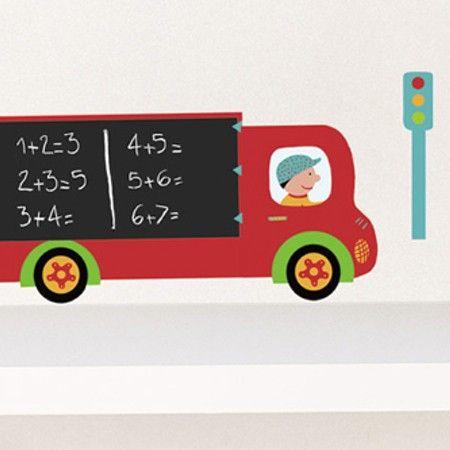 Krijtbordsticker Vrachtwagen
