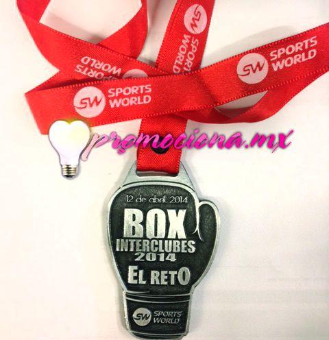 Medalla Box SW, diseño personalizado, listón impreso 1 tinta. promociona #medallas #colores #carrera #articulospromocionales #promocionales #promociona http://www.promociona.mx/index.php/medalla-dise-o-especial.html
