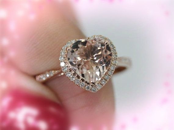 Hey, I found this really awesome Etsy listing at https://www.etsy.com/listing/206745495/14k-rose-gold-8mm-heart-cut-morganite. This is my dream engagement ring.
