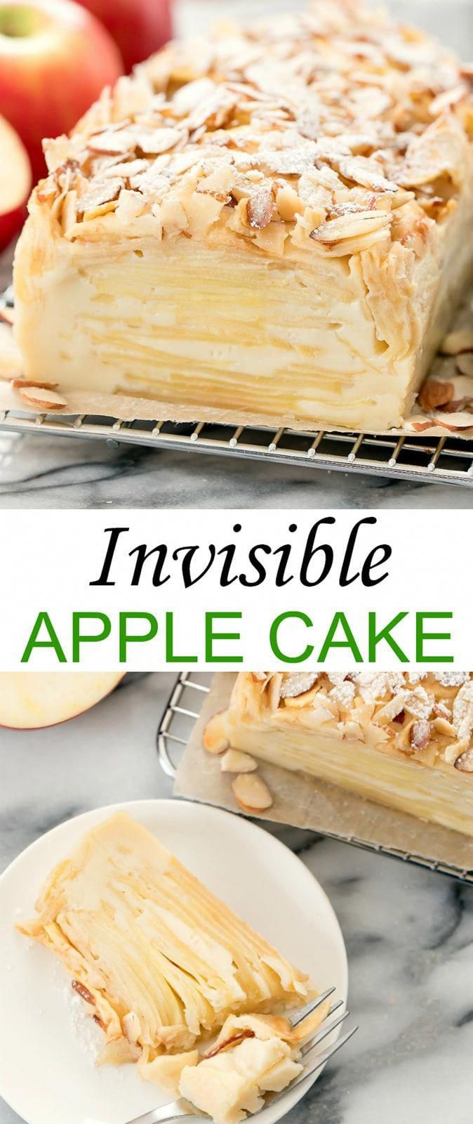 Invisible Apple Cake (Gâteau Invisible). This unique dessert features dozens of... - cake recipes