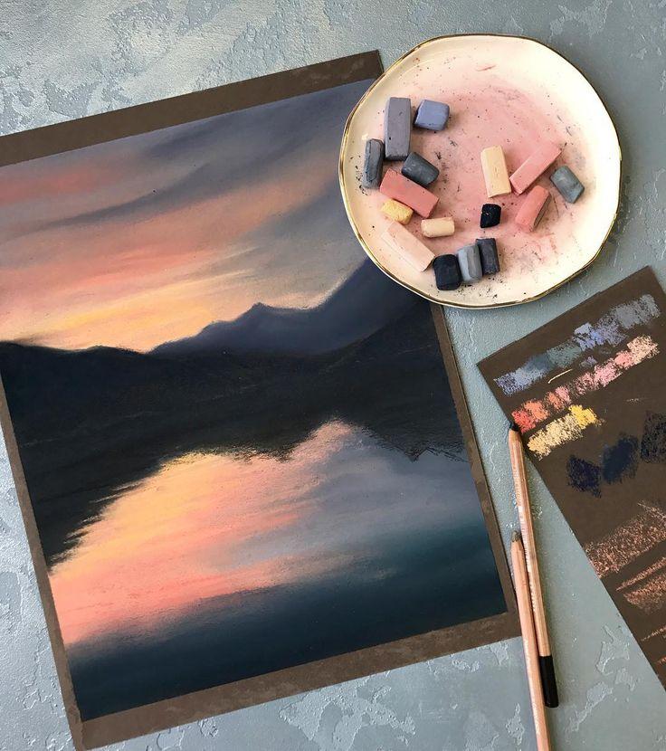 "241 Likes, 9 Comments - Pastel Watercolor (@bonbonarts) on Instagram: ""А меня тянет на море пока безвылазно в Москве, но мечтать никто не запрещает))) референс фото…"""