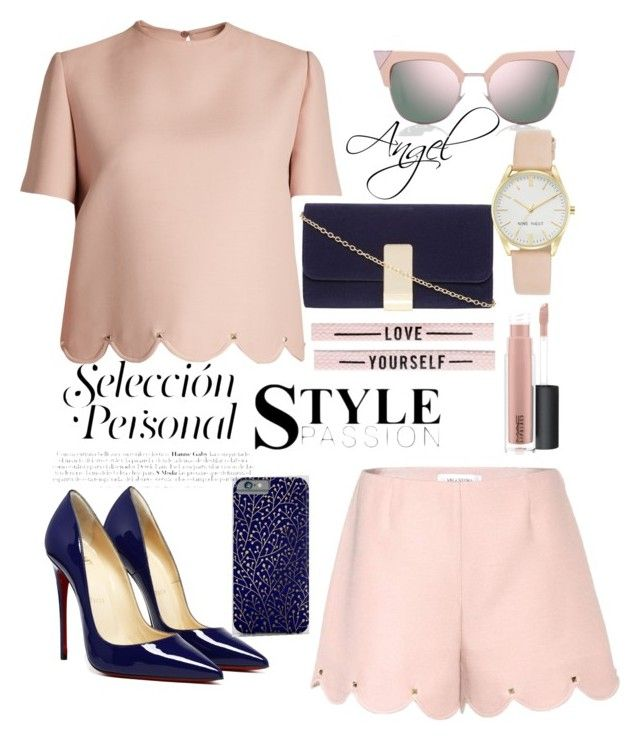 #Pink🎀 by 💖Angel1324💖on Polyvore featuring polyvore, fashion, style, Valentino, Dorothy Perkins, Nine West, Fendi, MAC Cosmetics and clothing
