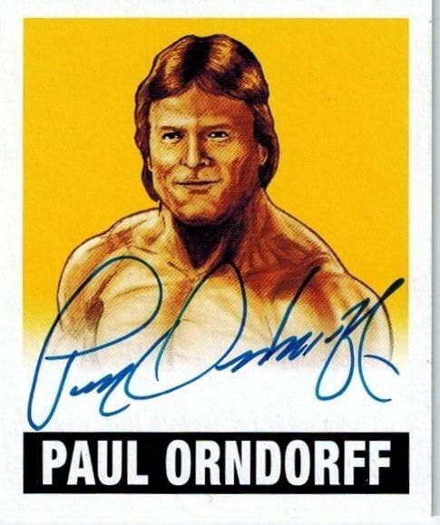 PAUL ORNDORFF 2012 Leaf Originals Wrestling Autographed / Signed YELLOW 89/99