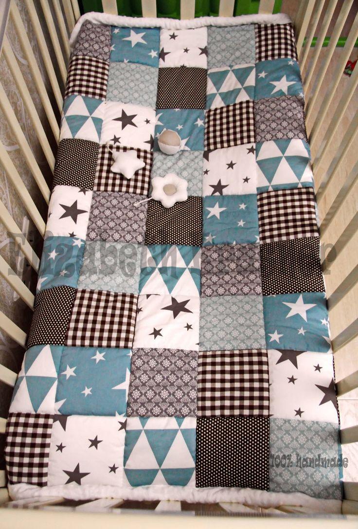 Купить Лоскутное покрывало - голубой, лоскутное одеяло, лоскутное покрывало, лоскутный плед, одеяло