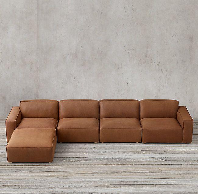 Como Modular Leather Sofa Chaise
