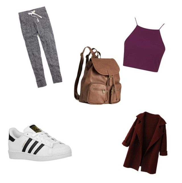 Back2school by annikenrabben on Polyvore featuring polyvore, fashion, style, Topshop, Madewell, adidas Originals, H&M and clothing